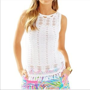 Lilly Pulitzer white sweater tank Small